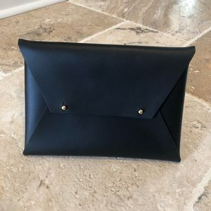 Leather envelope clutch by tribe alive